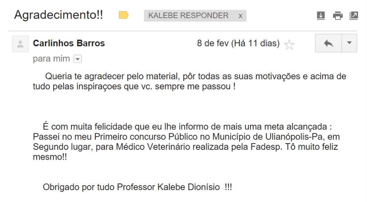 e-mail 1 recebido
