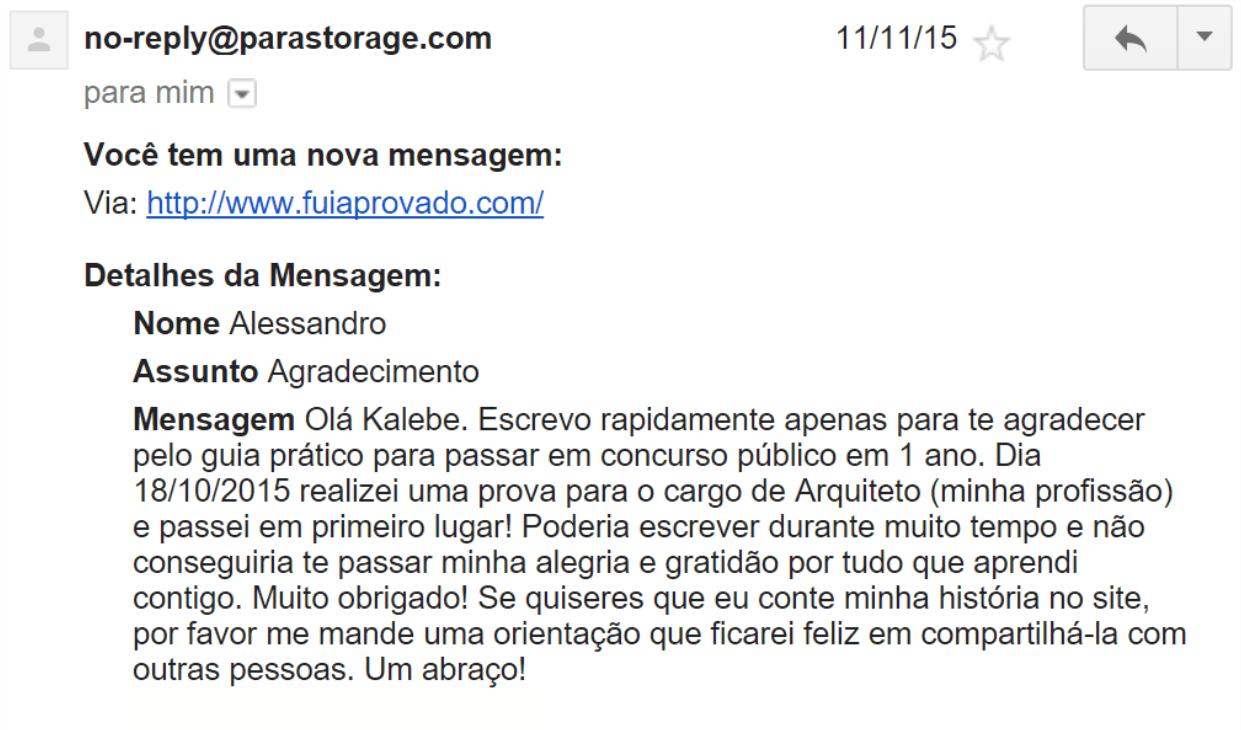 e-mail 2 recebido